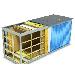 Металлический блок-контейнер / бытовка / вагончик 6x2.4