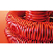 Гофрированная гибкая-легкая труба оранжевого цвета из ПНД с протяжкой диаметр 32мм.ДКС