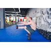 Модульное ПВХ покрытие для укладки на бетонную стяжку в тренажерном зале, зале игровых и спортивных аттракционов