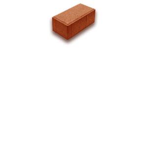 Тротуарная плитка красная 200х100х80мм, М300, F200.-540 р.м2