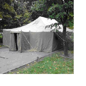 Продам палатку офицерскую лагерную с наметом (утеплением), два окна. Новая полный комплект.