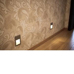 Подсветка ступенек, стен, лестниц, пола. LED светильники, встраиваемые в стену. Подключение на 220В.